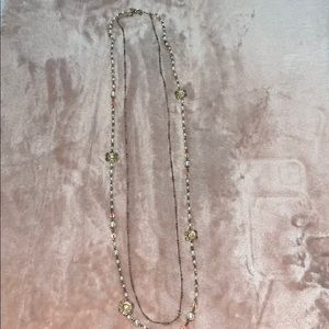 long multi layered necklace